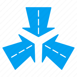 collapse, collide arrows, meeting point, navigation, resize, shrink, street cross icon