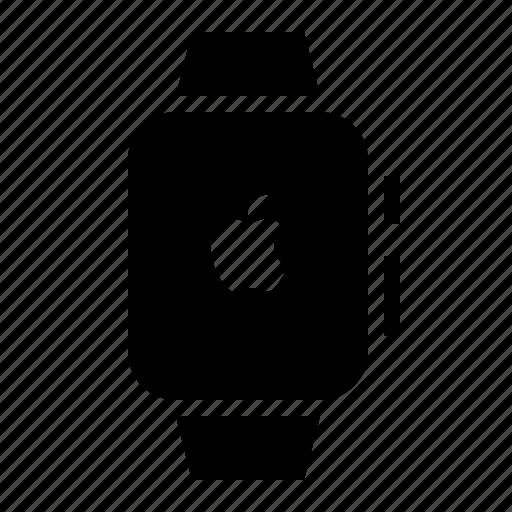 apple logo, apple watch, clock, device, ios, timepiece, watch icon