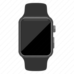 apple watch, blank screen, device, iwatch, timepiece icon