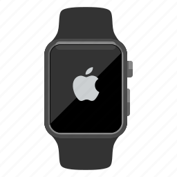 apple logo, apple watch, device, iwatch, timepiece, watch icon