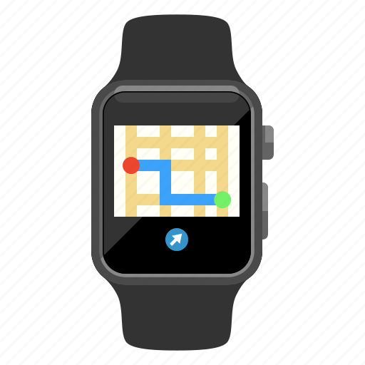 apple watch, device, iwatch, map, navigation, watch icon