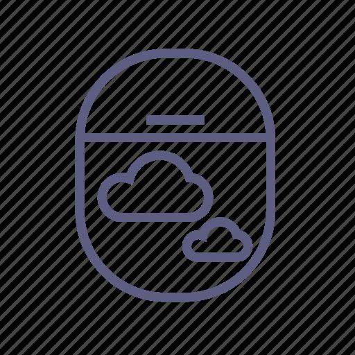 cloud, cloudy, flight, fly, sky, weather, window icon