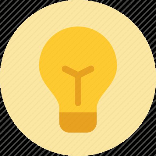 bright, bulb, creative, idea, light, lightbulb icon