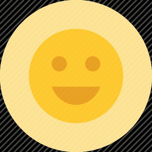 emoji, happy, smile, user icon