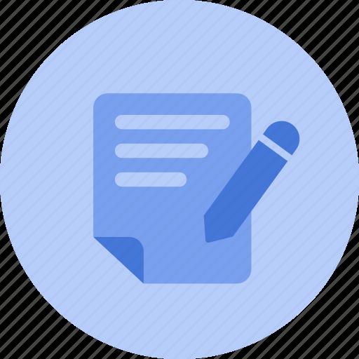 article, blog, draft, edit, news, text, write icon