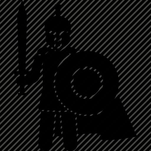 spartan, trojan, war, warrior icon