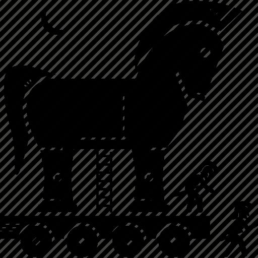 horse, trojan, war icon