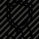 shield, ribbon, prize, achievement, banner