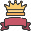 crown, and, banner, prize, achievement