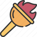 flaming, torch, prize, achievement, fire