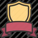 shield, banner, prize, achievement, trophy