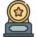 star, coin, award, prize, achievement