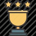 trophy, stars, prize, achievement, winner