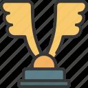 wings, award, prize, achievement, trophy