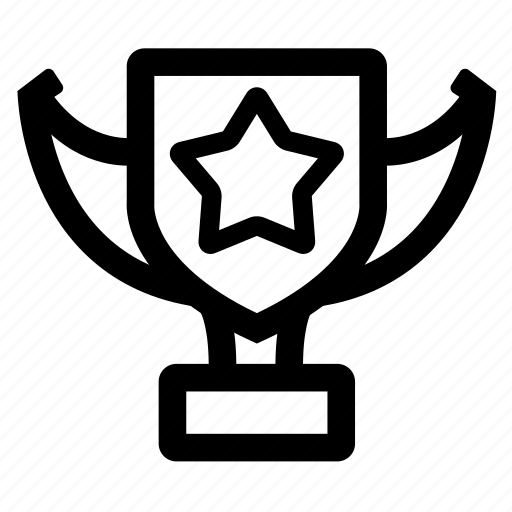 badge, champion, star, trophy icon