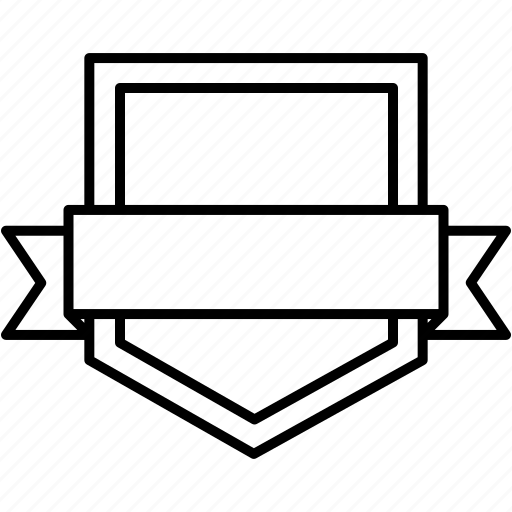 achievement, badge, label, retro, shield, sticker icon
