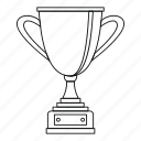 award, championship, cup, gold, line, outline, success icon