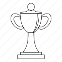 award, championship, cup, label, line, outline, success icon