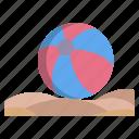 beach, ball
