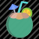 tender, coconut
