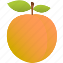apple, food, fruit, orange, peach