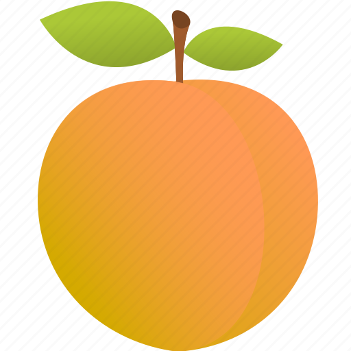apple, food, fruit, orange, peach icon
