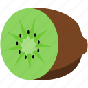 brown, food, fruit, green, kiwi icon