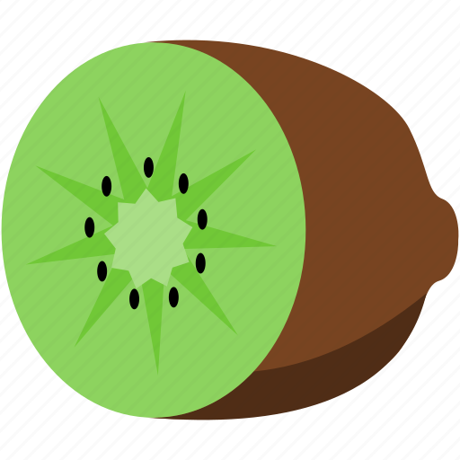 brown, food, fruit, green, kiwi icon