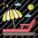 beach, chair, summer, vacation