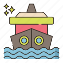 cruise, ocean, ship icon