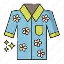 clothes, fashion, hawaiian, shirt icon