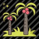 tree, palm, coconut icon