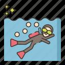 diver, diving, scuba