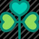 clover, foliage, leaf, nature, plant, tropical icon