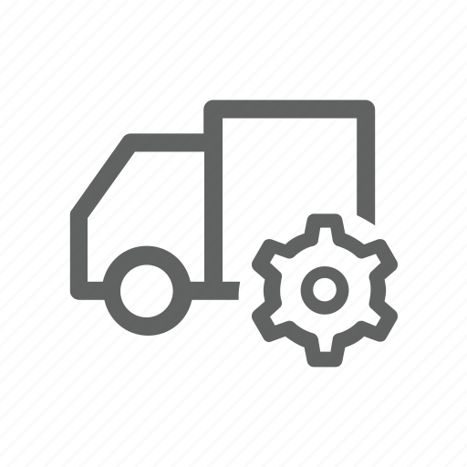 gear, options, setting, shipping, transportation, truck icon