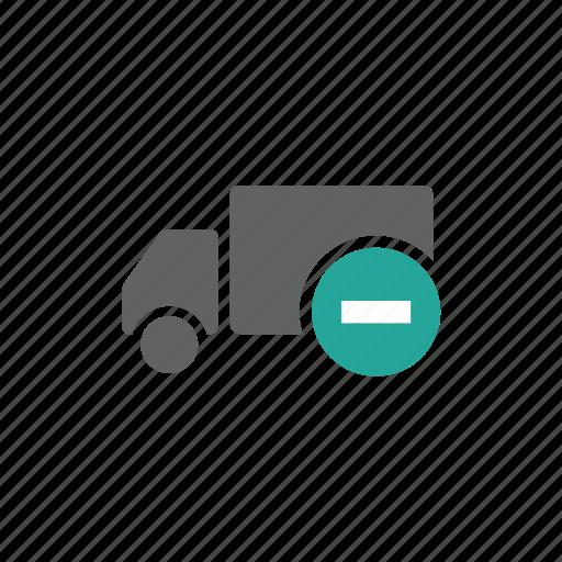 delete, minus, remove, shipping, transportation, truck icon
