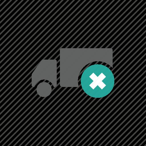 cross, delete, remove, shipping, transportation, truck icon