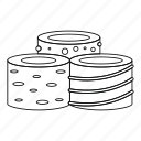 delight, food, line, outline, sugar, sweet, turkish icon