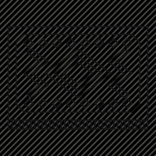 carpet, line, outline, pattern, rug, turkey, turkish icon