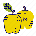 apple, food, fruit, fruit icons, raw food icon