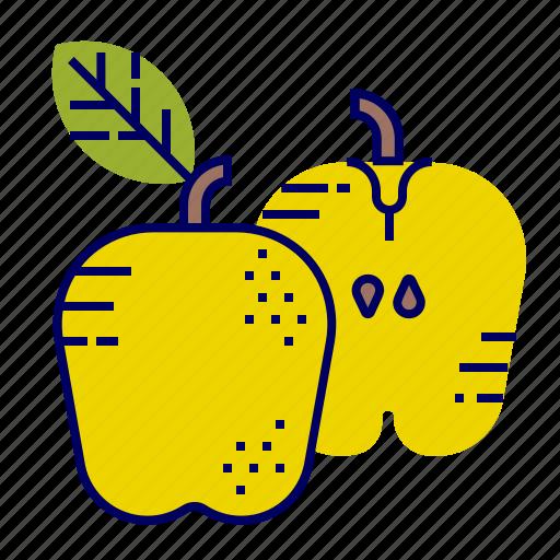 apple, food, fruit, fruit icons, raw food icon