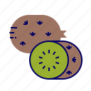 food, fruit, fruit icon, kiwi icon