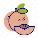 food, fruit, fruit icons, peach, pink icon