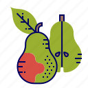 food, fruit, fruit icon, pear icon