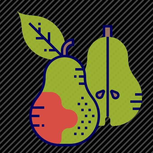 food, fruit, fruit icon, pear icon