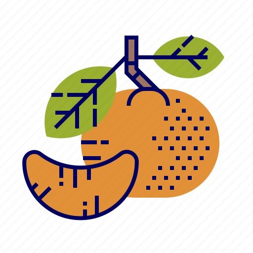 food, fruit, fruit icons, green, orange, tangerine icon