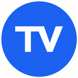 feature, label, round, tv icon