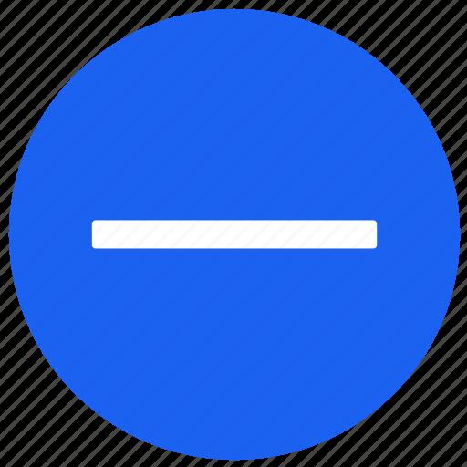 feature, label, minus, round, tv icon