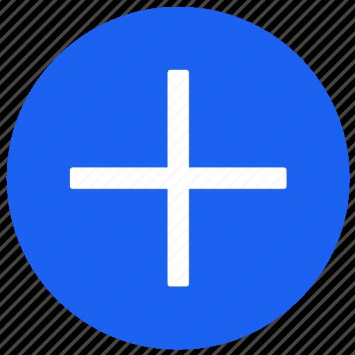 add, feature, label, plus, round, tv icon