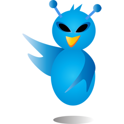 alien, bird, twitter icon